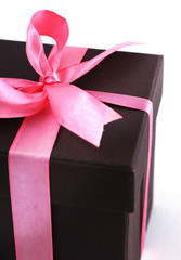Gift box with Pink ribbons.