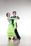 Fototapety Boy and girl dancing ballroom dance