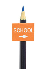 An imitation signboard on education concept, isolated