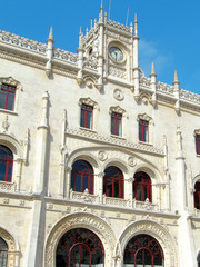 Rossio Lisbon central station, main entrance.