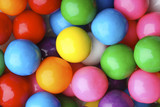 Multicolored bubble gum candy background poster