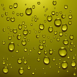 realistic water droplets poster