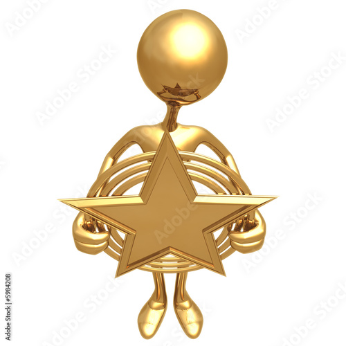 gold star award. Holding A Gold Star Award