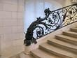 Escalier de pierre avec rampe ouvragée, Petit Palais , Paris