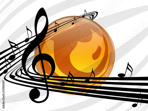 vector music background 01 by