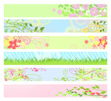 Spring floral website banners / vector / for your web-site poster