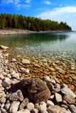 Clear waters of Georgian Bay at Bruce peninsula Ontario Canada poster