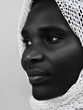 Young African Muslim woman, low key