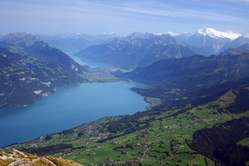 Lake of Thun mountain view, Interlaken
