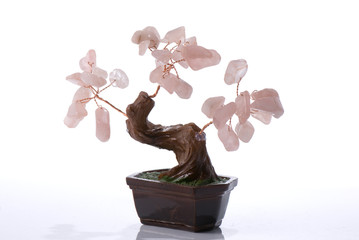 Stone bonsai tree