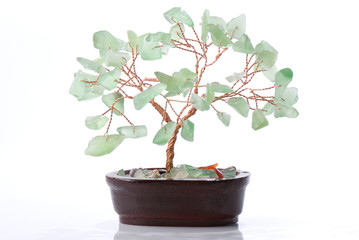 Bonsai tree from stone