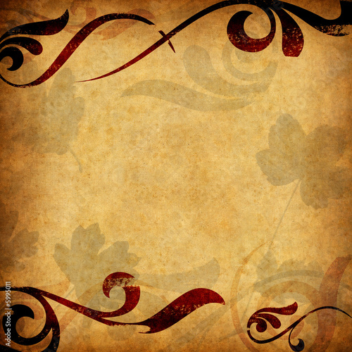 Old paper background - square format