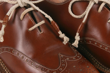 beautiful brown handmade shoes from italy