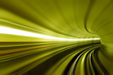 motion blur of tunnel