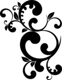 vector series - strange floral pattern poster