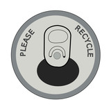 please recycle on pop or soda can lid - vector poster