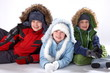Happy winter children