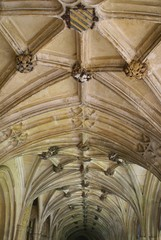 ceiling. ceiling with sculptures