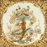 Victorian period decorative arts printed tile poster