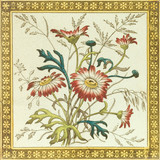 Victorian period aesthetic daisy design floral tile poster
