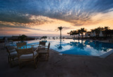 sunset and swimming pool - Fine Art prints