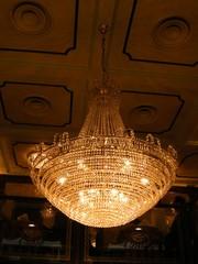 crystal, chandelier,  restaurant