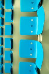 cyan stadium seats