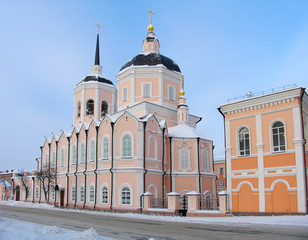 Christian cathedral. Russia.  Tomsk. .