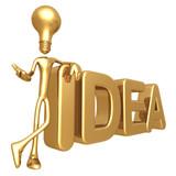 Fototapety Lightbulb Idea Presenter