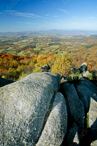 Papiers peints Colline Paysage d'automne en Bourgogne