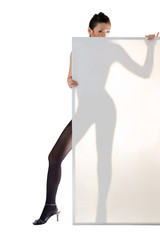 asian girl silhouette