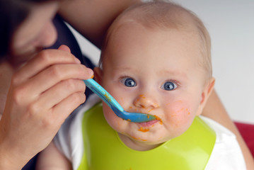 Feeding of a small child
