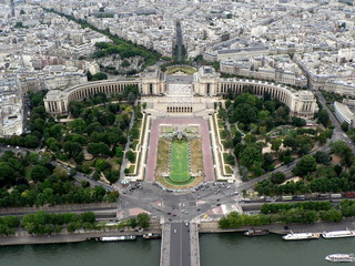 Trocadero gardens and the Palais de Chaillot
