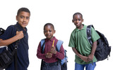 Fototapety A group of african american students ready for school.