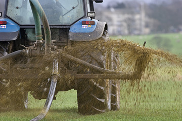 Muck Spreading.