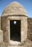defense turret at the retimno castle in crete poster
