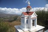 little church maquete very common in crete island greece poster