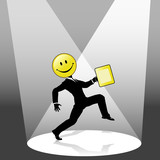 Smiley High Step Business Person Dance in Spotlight poster