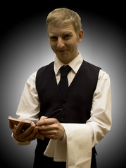 Waiter with notepad 2