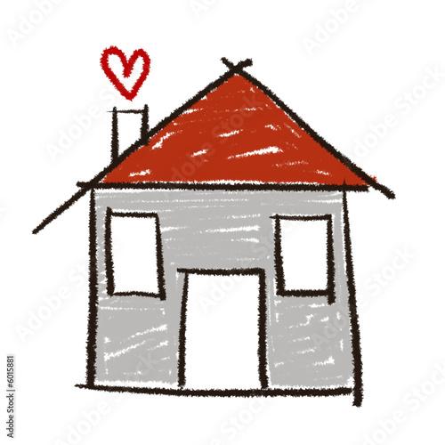 Dessin maison photo libre de droits sur la banque d for Dessin maison facile