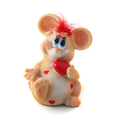 colourful mouse or rat toys isolated