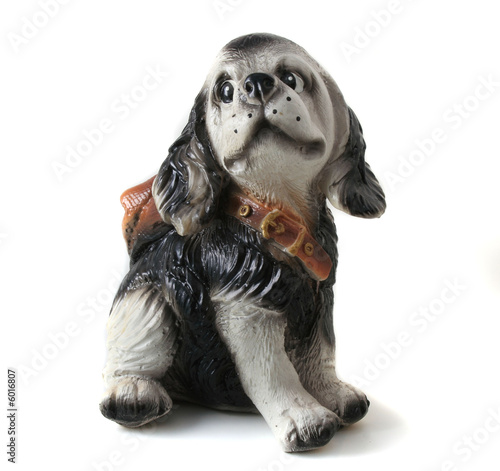 dog, ceramics cocker Spaniel isolated