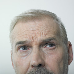 Mature man 's eyes