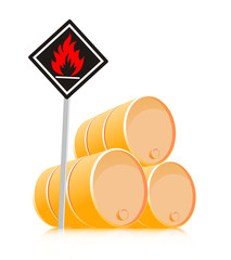 sign inflammable material