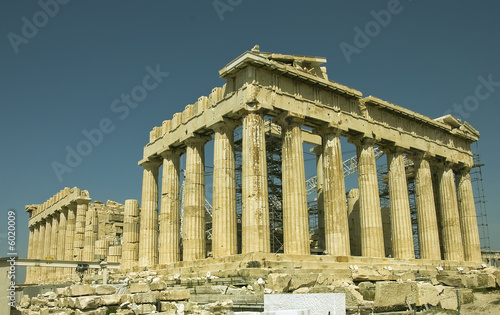 Parthenon monument,  north-west view, Athens,