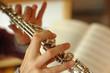 Leinwandbild Motiv playing the flute