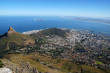 general view of Capetown and Table Bay(South Africa) poster