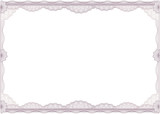 Classic guilloche border for diploma or certificate. A4  poster