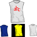 Color and White TShirt Templates. poster