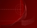 Red Axis Chart Abstract Business Background poster